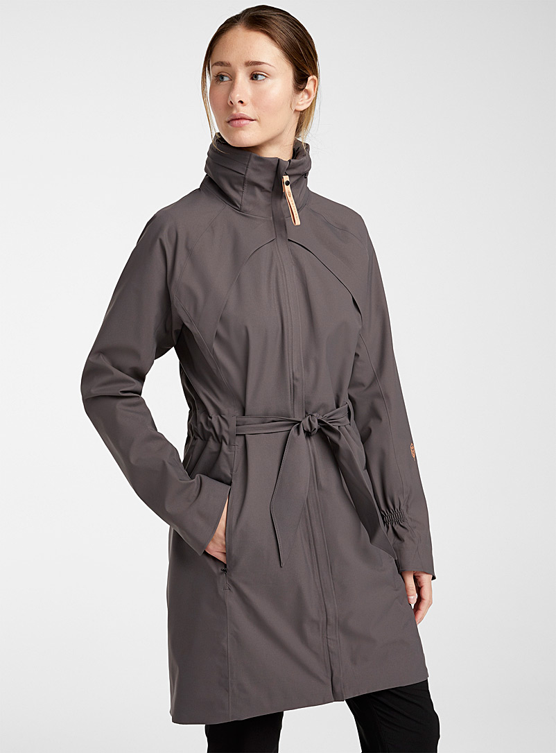Indygena Charcoal Finola waterproof trench coat for women