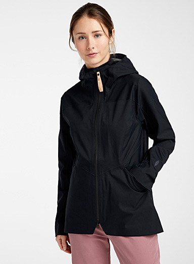 Indygena Black Isla shell coat for women