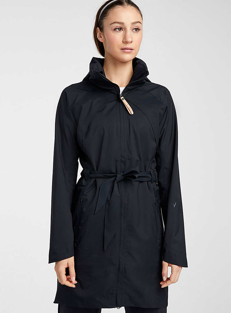 Indyeva Black Finola waterproof trench coat for women