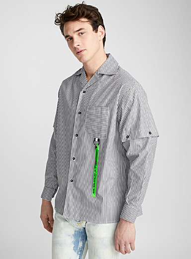 Convertible stripe shirt