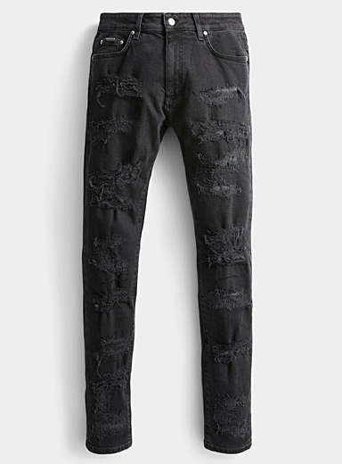 Represent Black Fully distressed jean  Super skinny fit for men