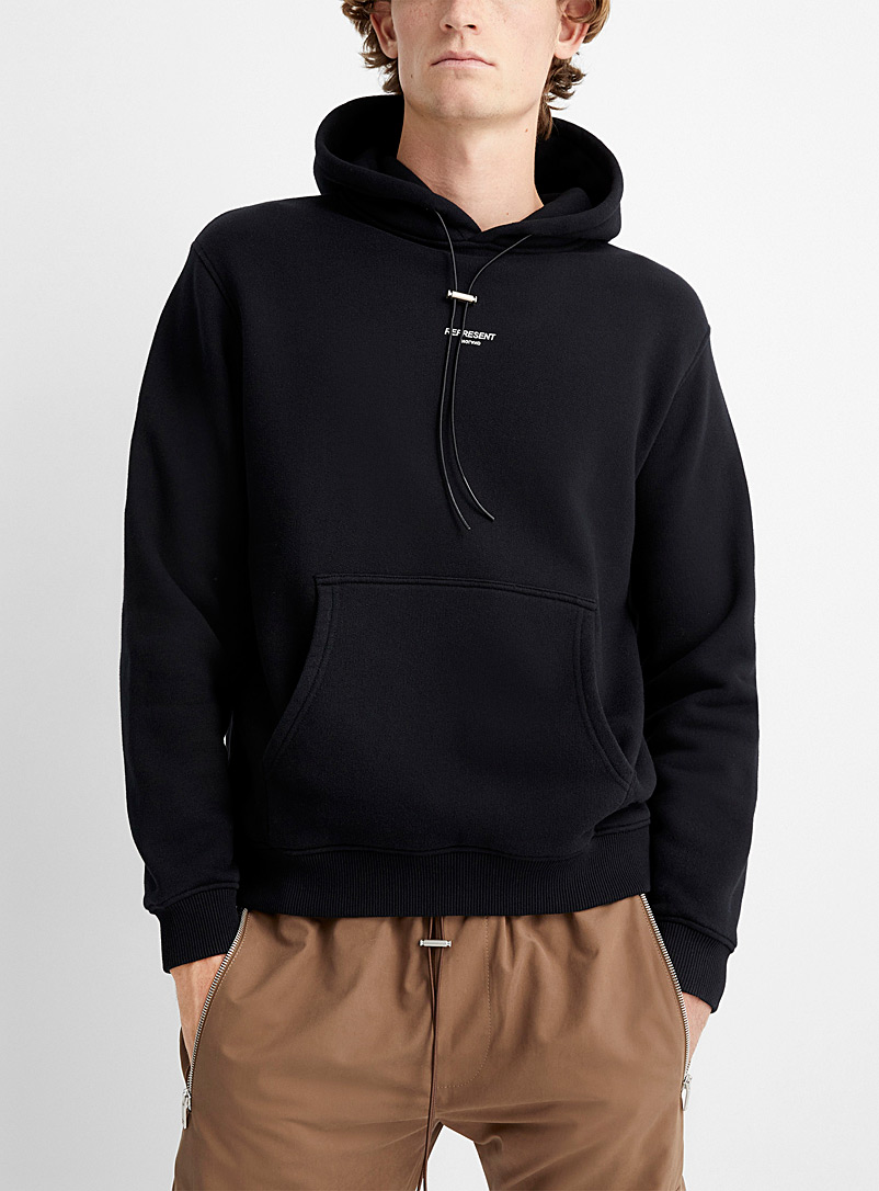 Represent Black Minimal logo hoodie for men