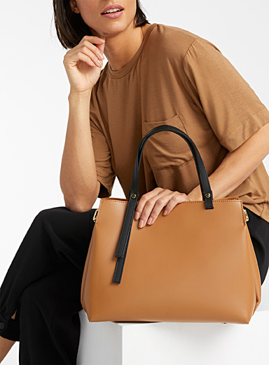 Matte leather bag