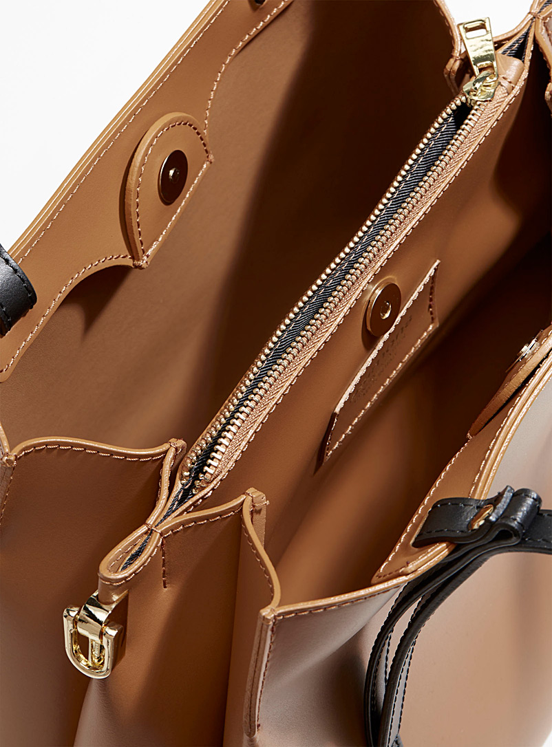 Matte leather bag - Leather and Suede - Fawn