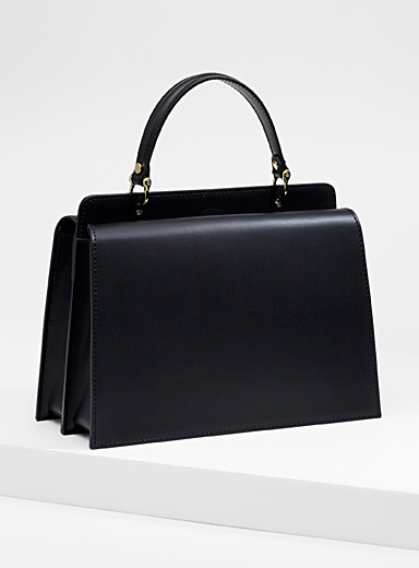 Smooth leather ladylike bag