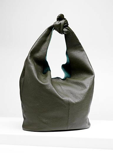 Knotted tote and clutch