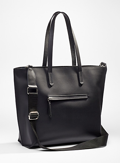 Smooth all-leather tote