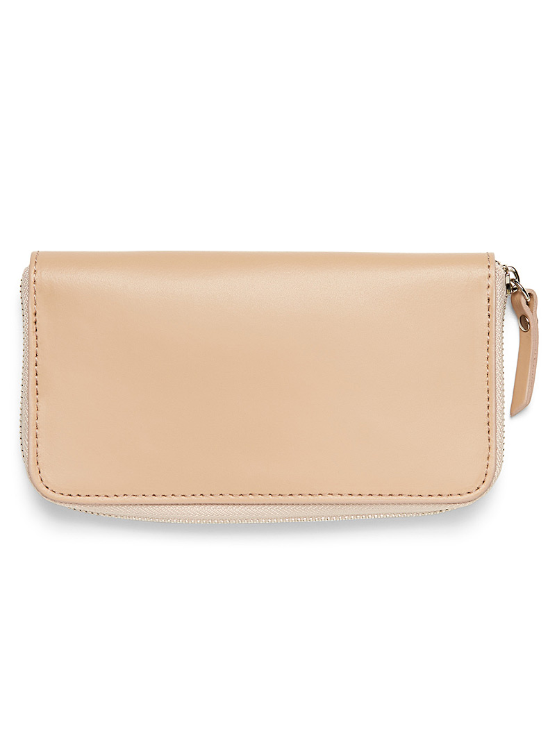 Smooth leather wallet - Leather - Fawn