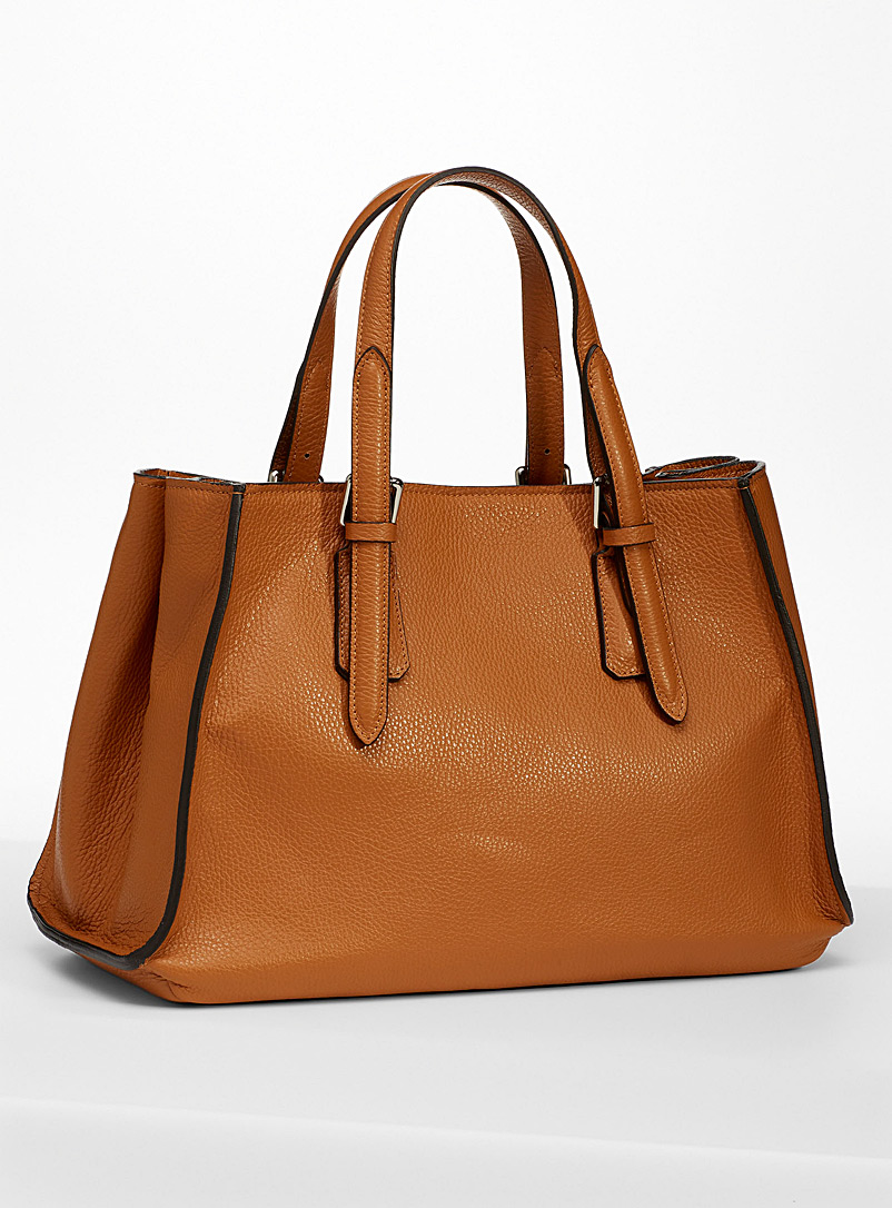 Simons Fawn Supple accordion tote for women