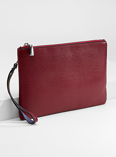 Leather strap wallet