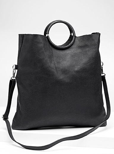 Round-handle tote and clutch