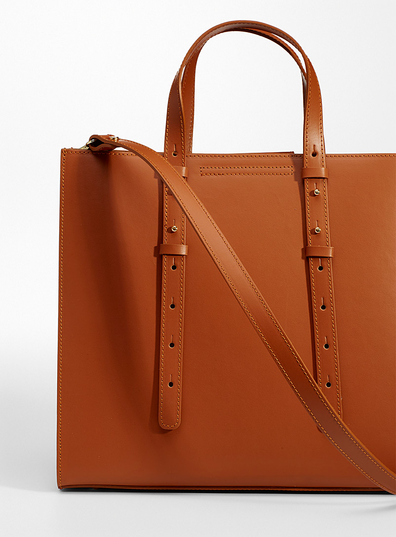 Simons Brown Large minimalist tote for women