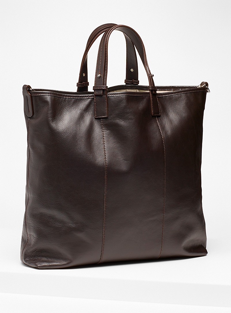 Simons Dark Brown Large wild leather tote for women