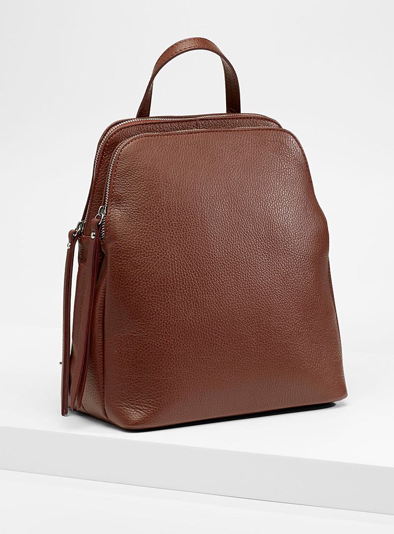 Simons Toast Divided leather backpack for women