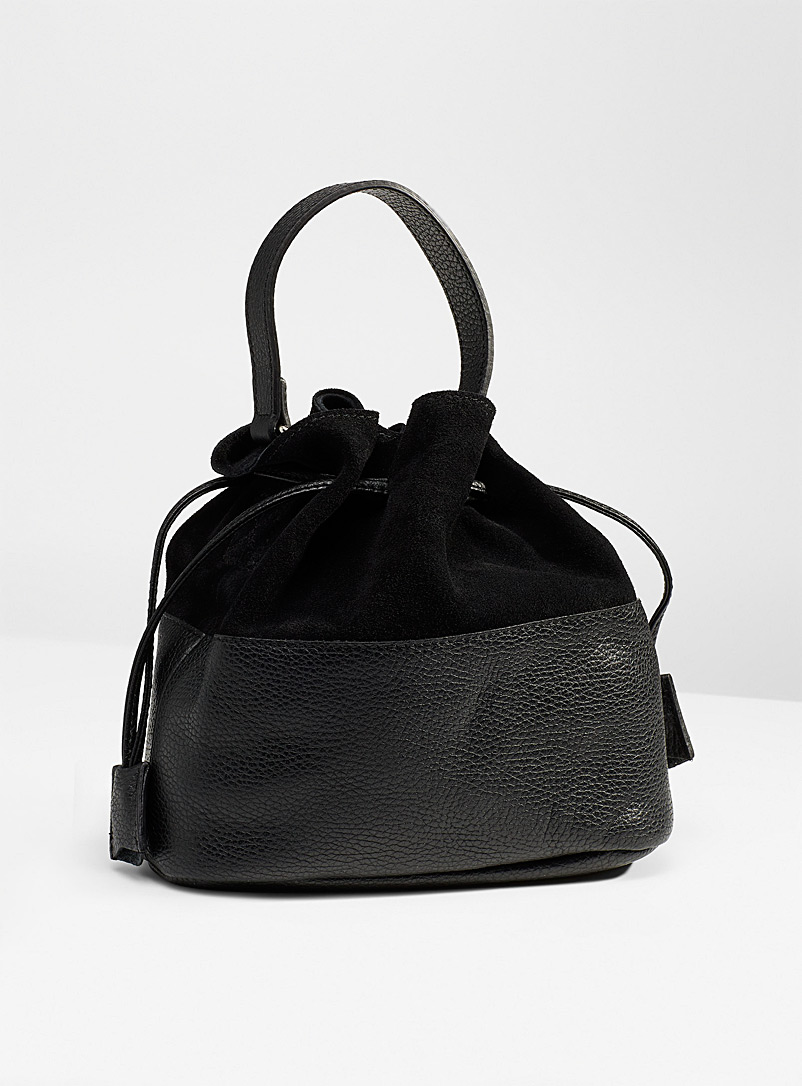 Simons Black Gathered shoulder bag for women