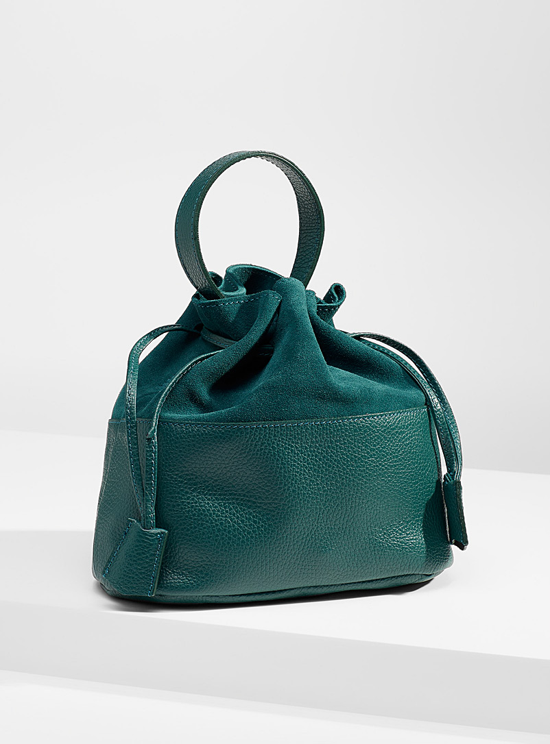 Simons Teal Gathered shoulder bag for women
