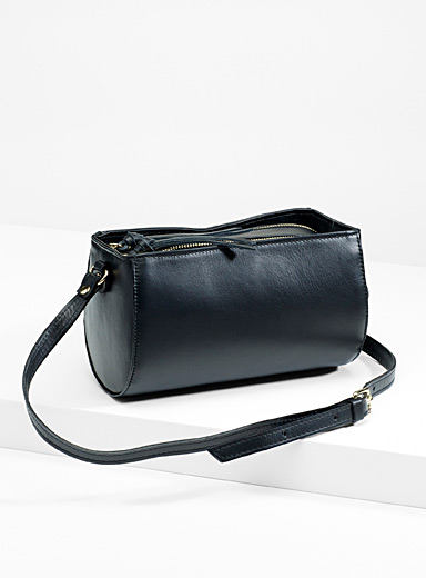 Geo leather shoulder bag