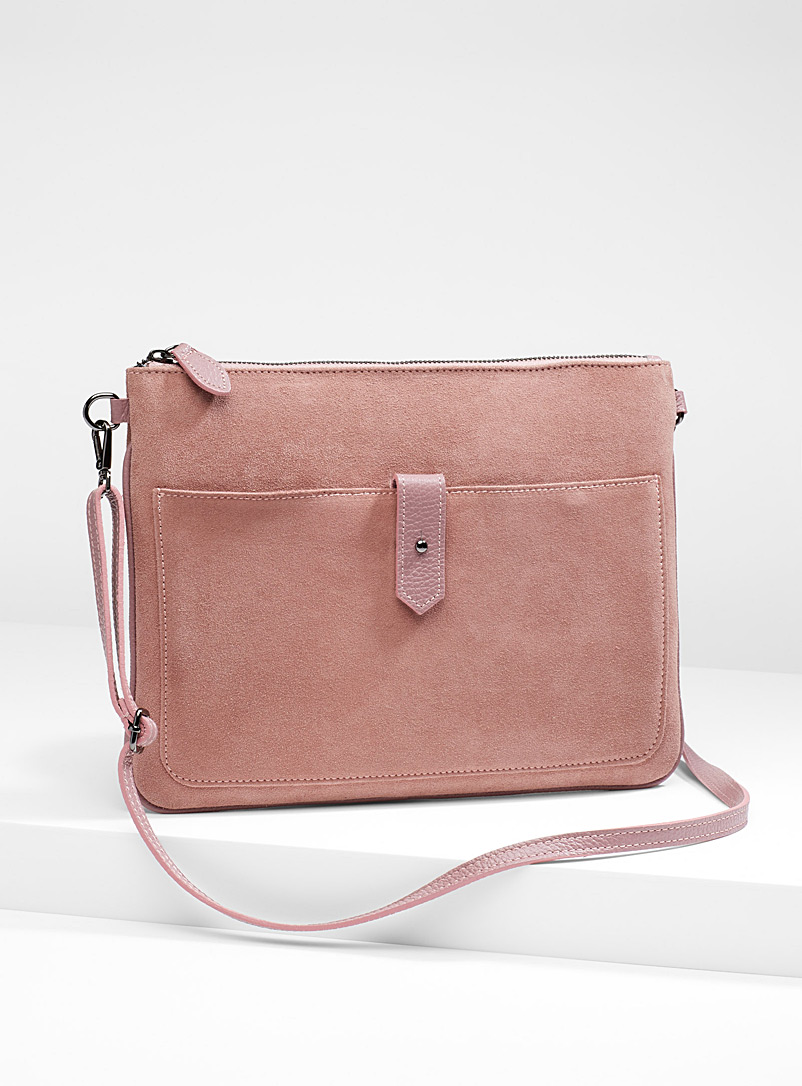 Suede shoulder bag - Clutches and Minaudieres - Lilacs