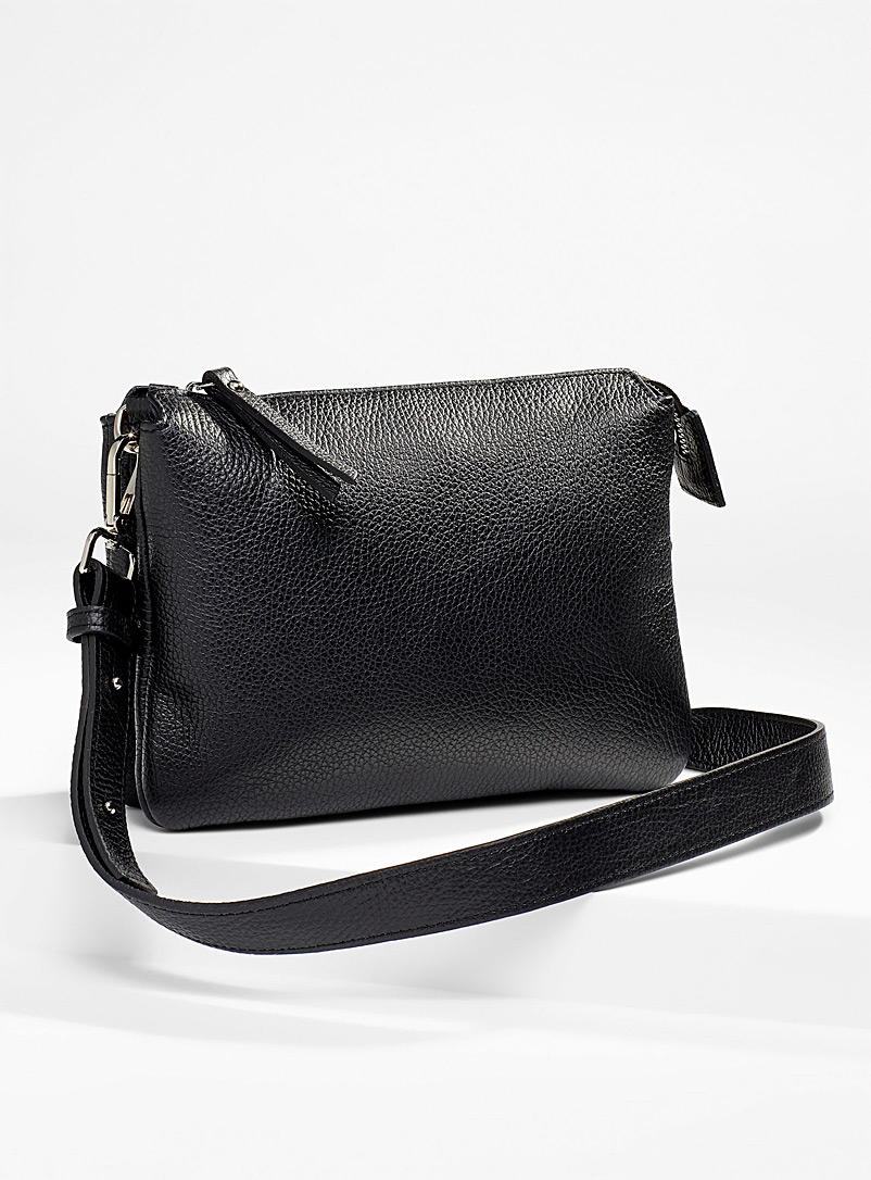 Simons Black Double small pocket shoulder bag for women