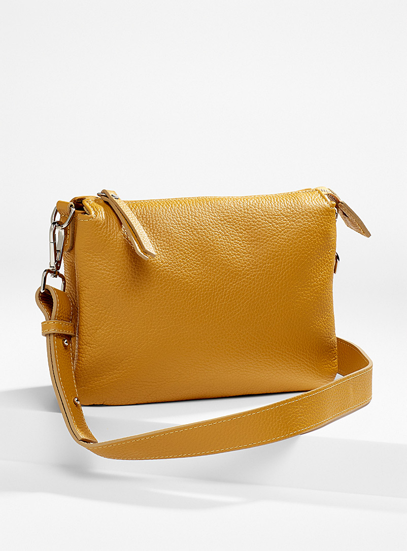 Simons Medium Yellow Double small pocket shoulder bag for women