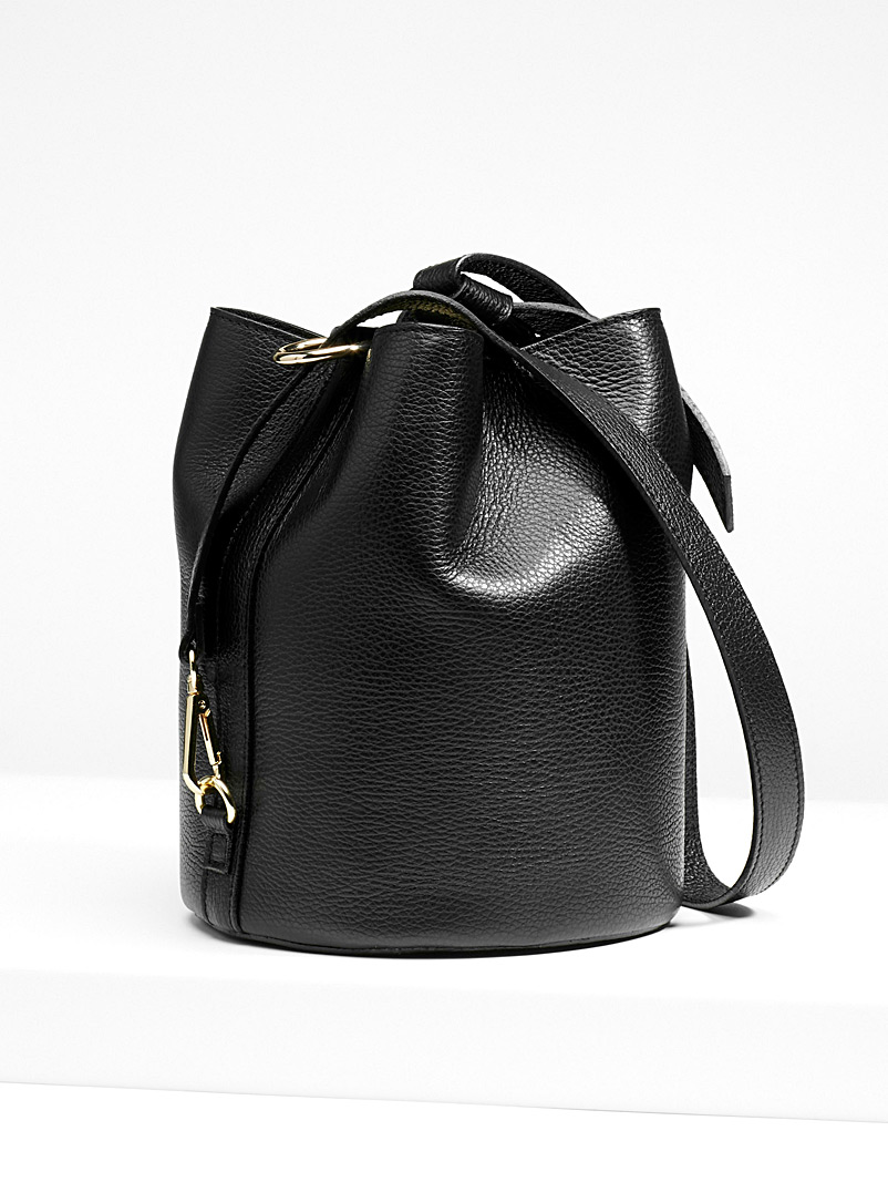 5165e9a245 grained-leather-bucket-bag