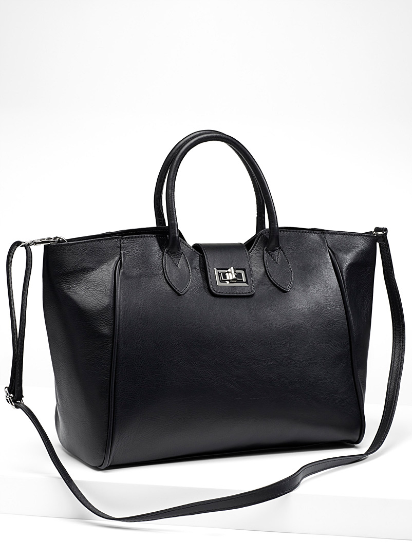 Business tote - Leather and Suede