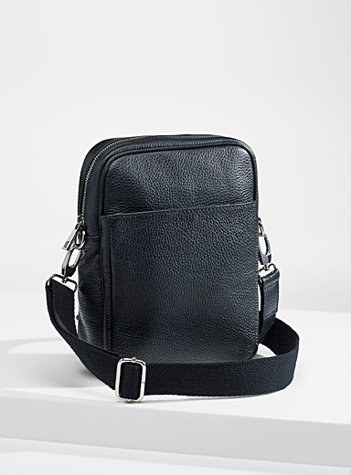 Grained leather shoulder bag
