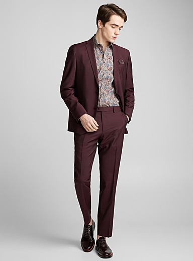 Sherman-Brandon burgundy suit  Regular fit