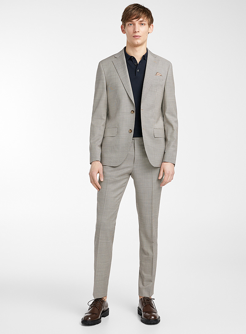 Sand Grey Star Napoli-Craig two-tone suit for men