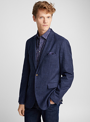 Navy tweed Saron jacket