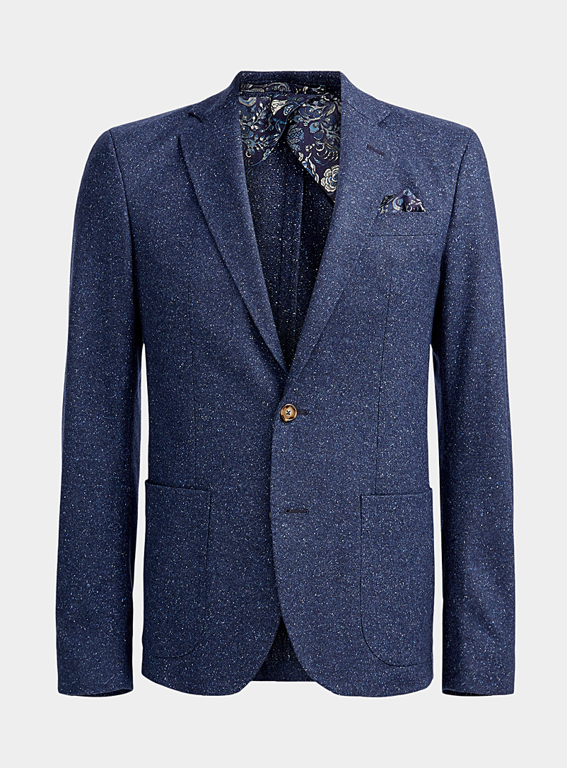Sand Marine Blue Star Easy confetti weave jacket for men