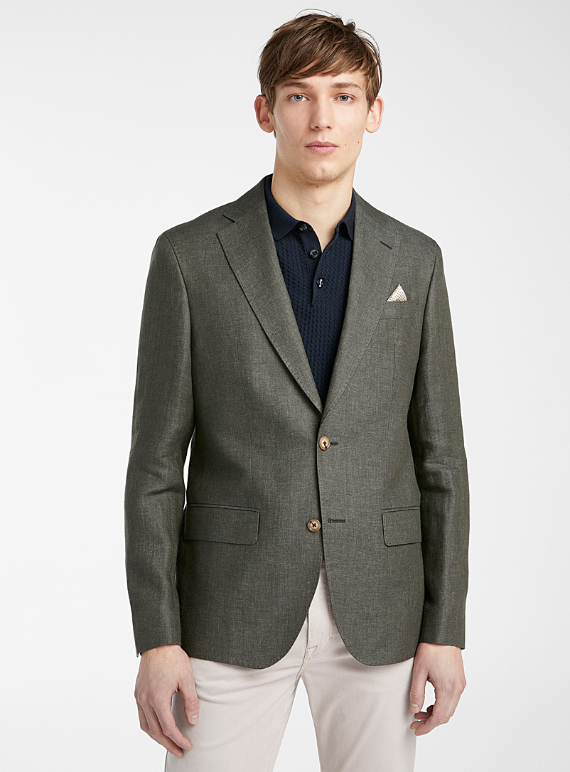 Sand Mossy Green Star Napoli jacket for men