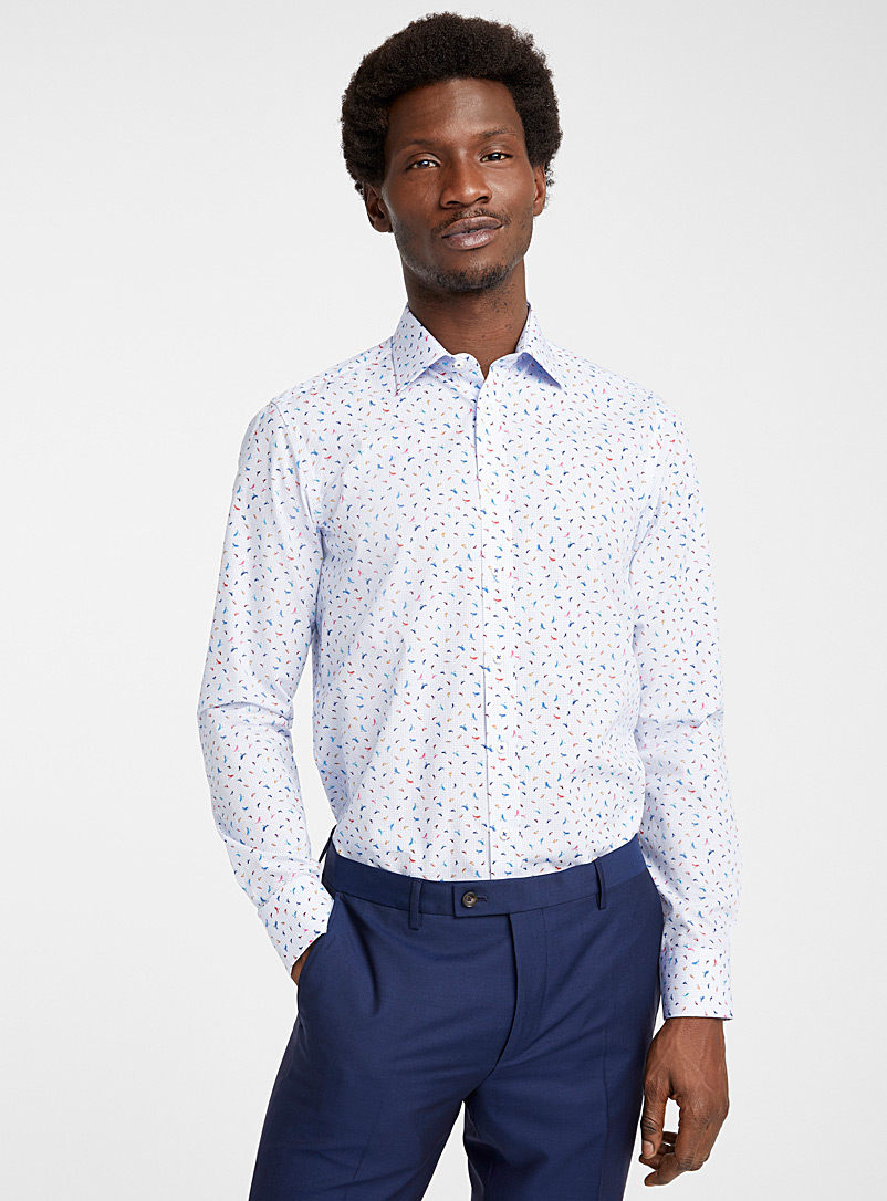 Sand Blue Bird and dot State N shirt for men