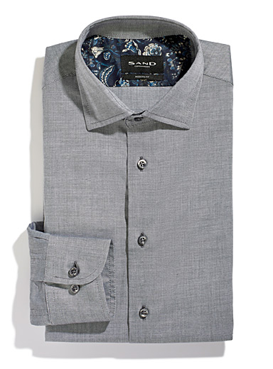 Sand Grey Chambray shirt for men