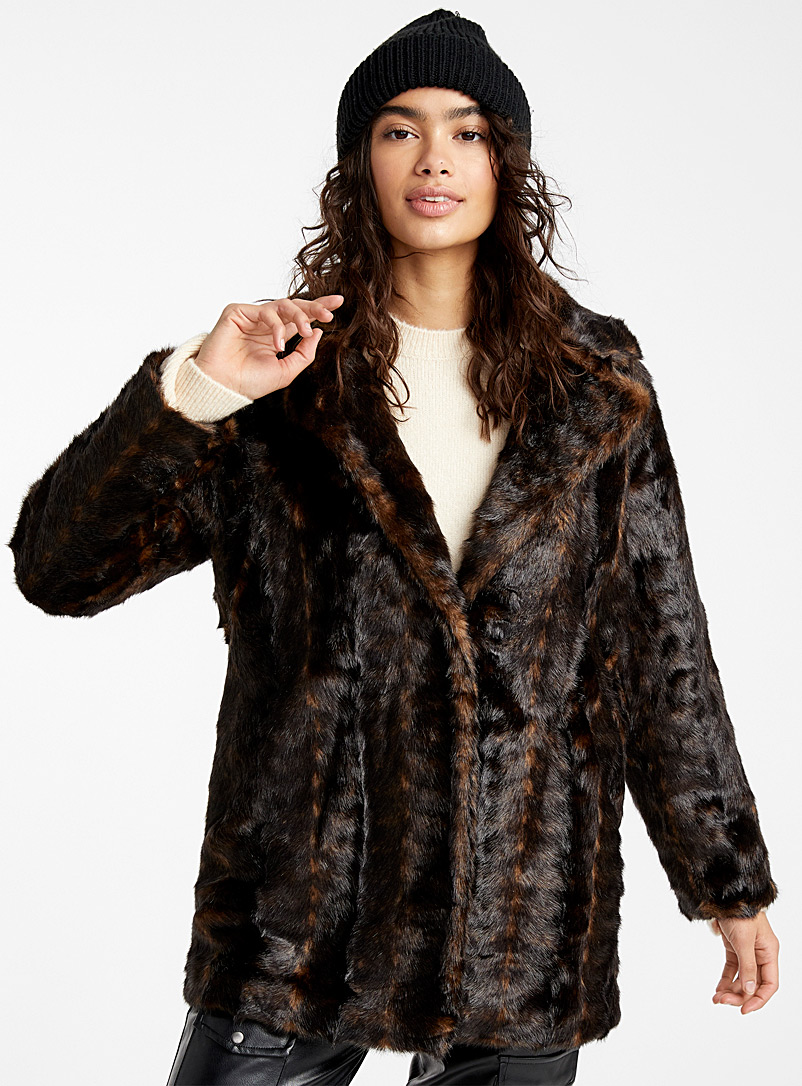 Retro mink jacket - Jackets and Vests - Patterned Black