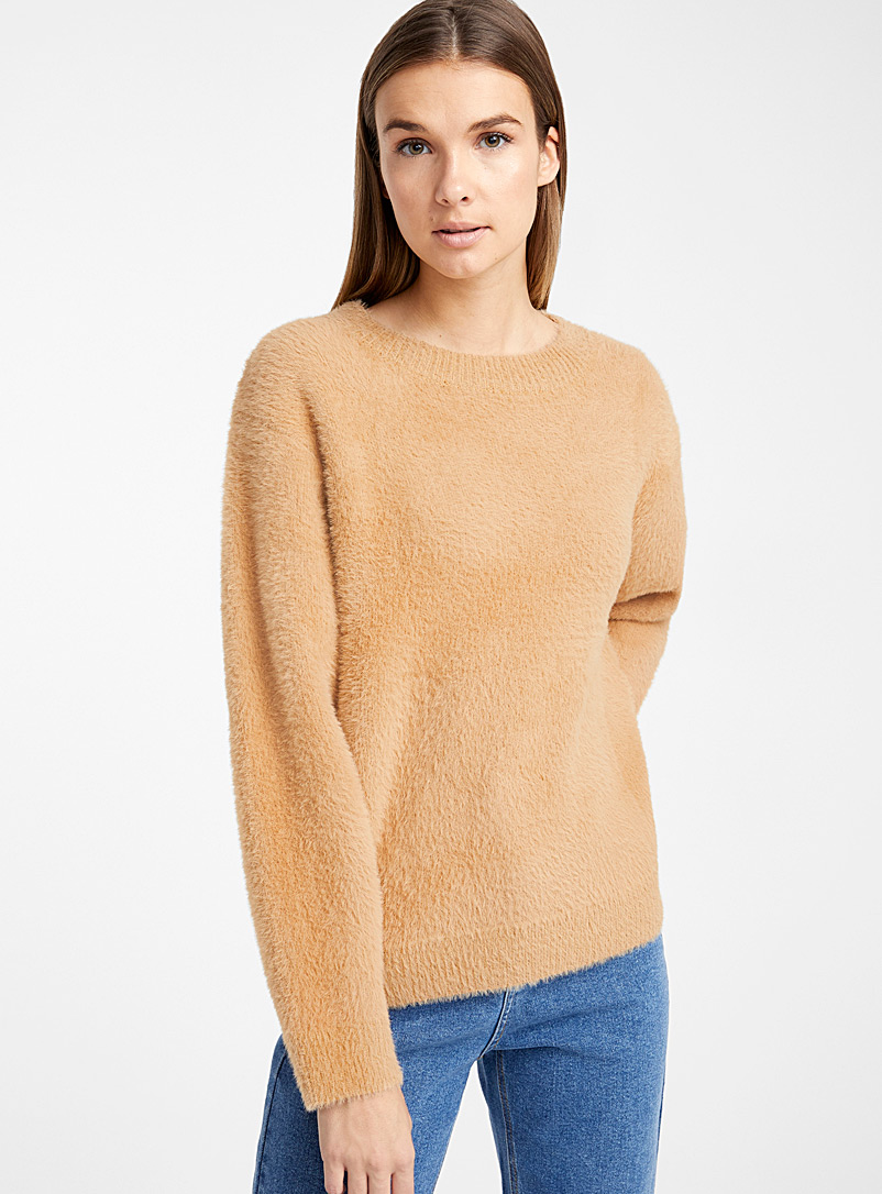 Loose fuzzy sweater - Sweaters - Honey