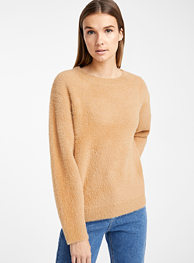 Loose fuzzy sweater