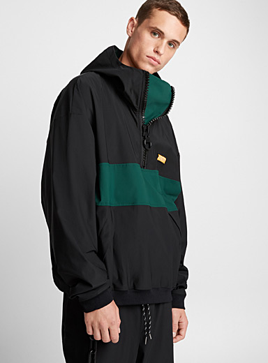 Accent zip windbreaker