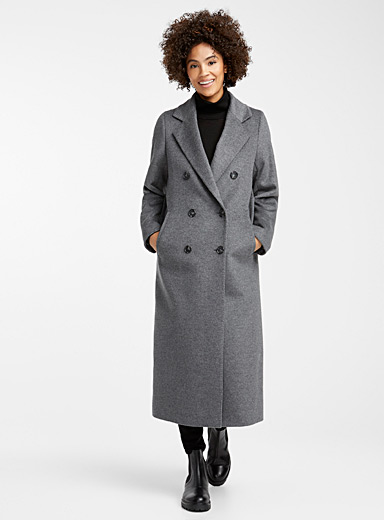Oversized double-breasted overcoat