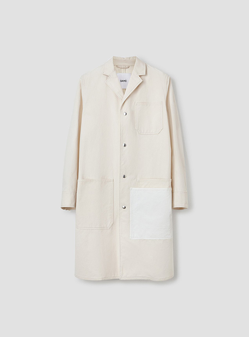 OAMC White Control coat for men