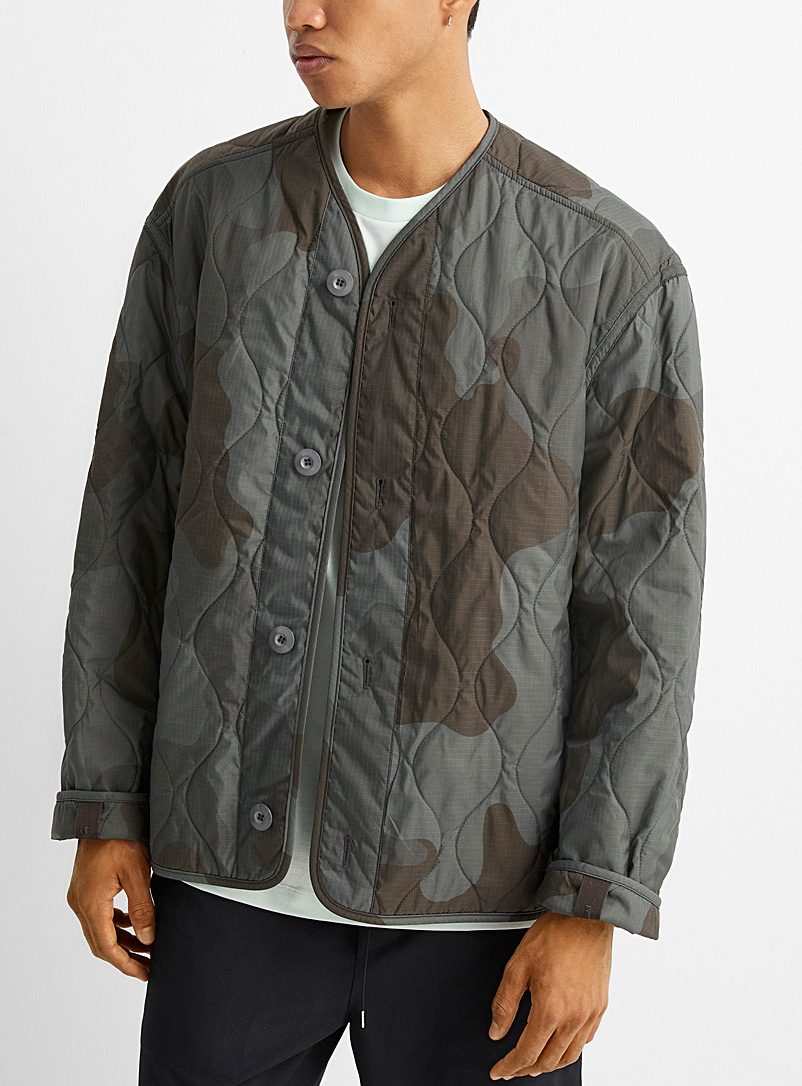 OAMC Green Combat quilted jacket for men