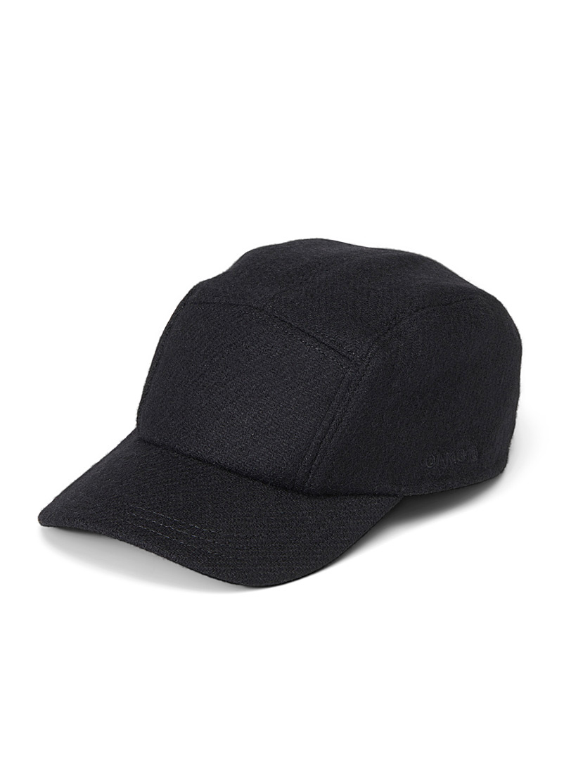 OAMC Black Combat tweed cap for men