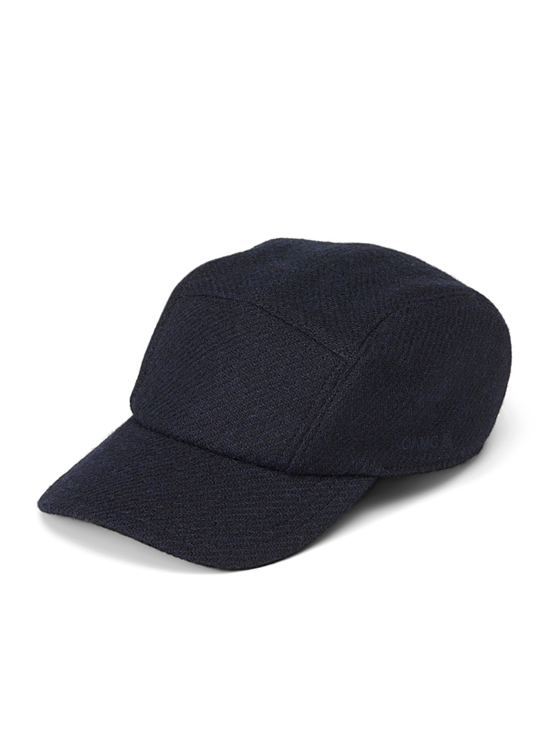 OAMC Marine Blue Combat tweed cap for men