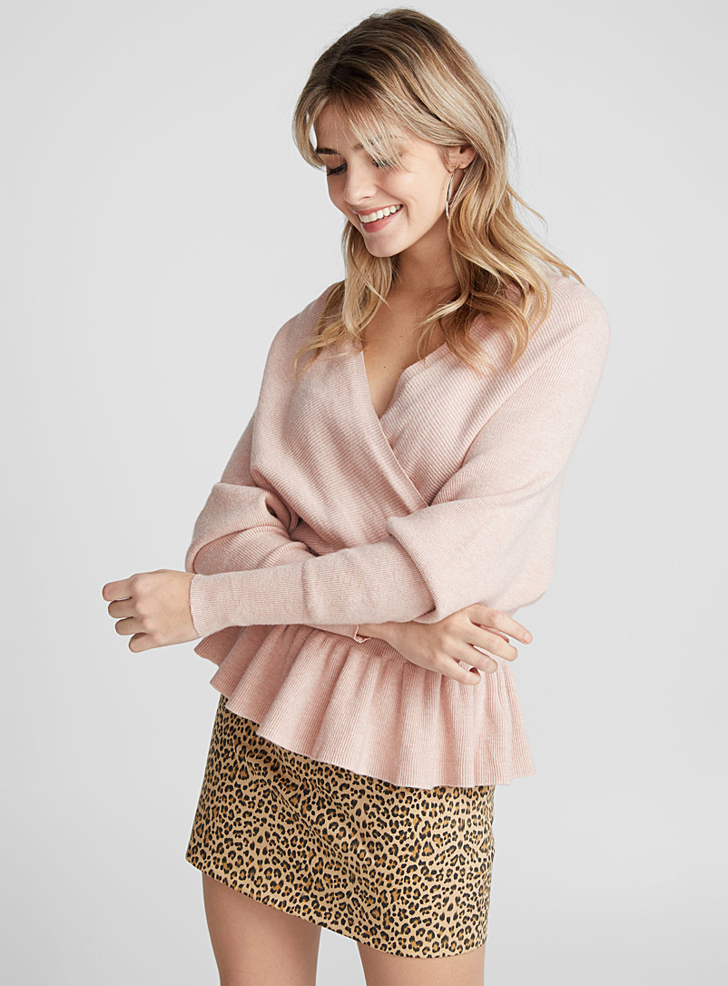 Le pull taille empire dos ouvert - Pulls - Vieux rose