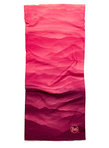 Pink hills recycled polyester tube scarf