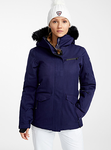 Insulated parka-style coat <br>Fitted style