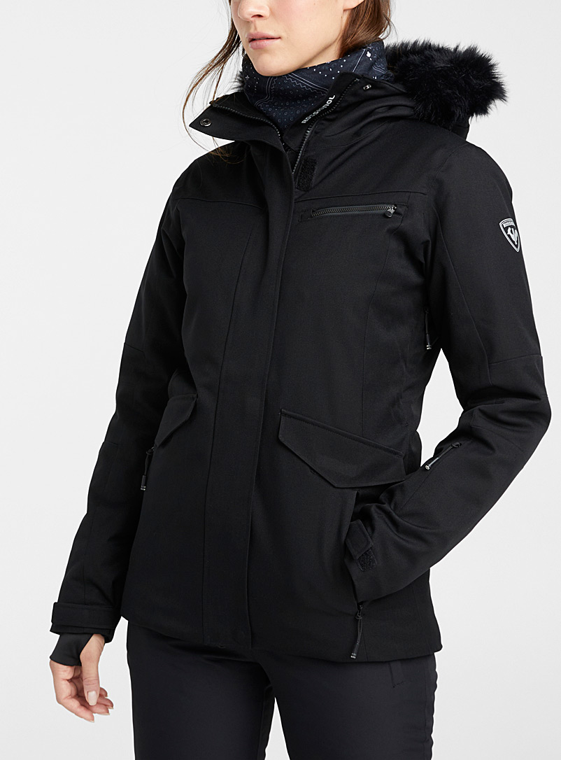 Insulated parka-style coat  Fitted style