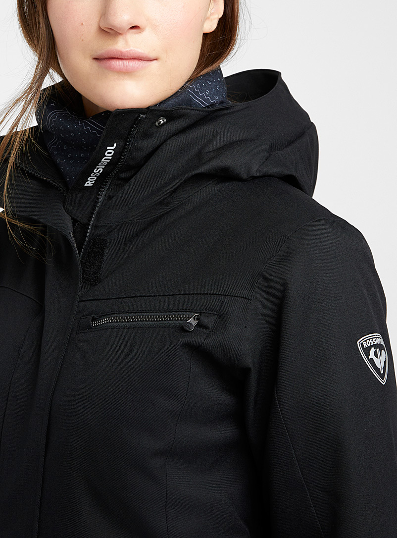Rossignol Black Insulated parka-style coat  Fitted style for women