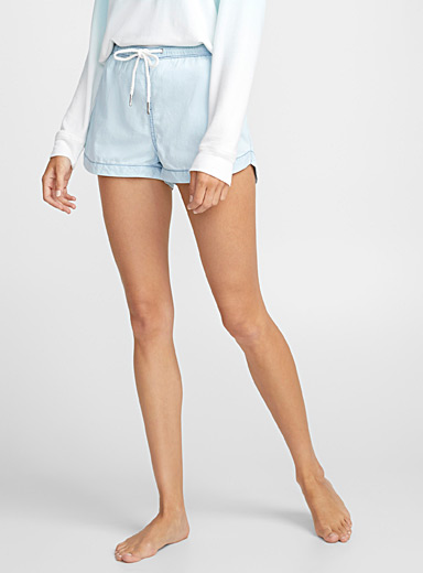 Cropped chambray boxer