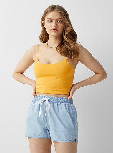 Organic cotton denim short